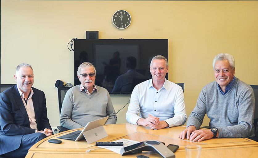 Trustees in a meeting room
