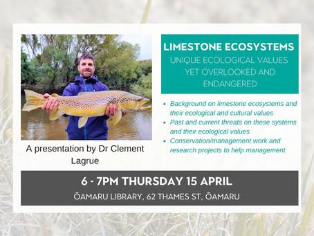15.04.21 Public talk: LIMESTONE ECOSYSTEMS