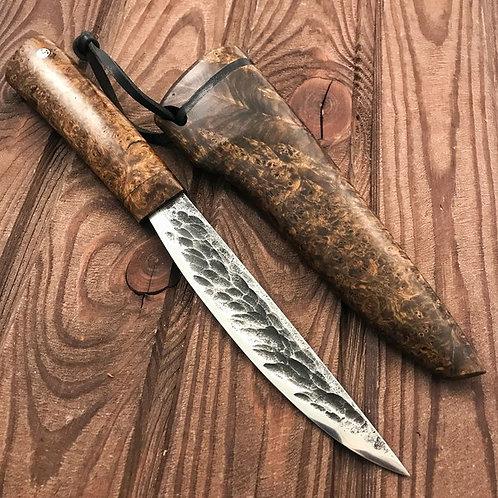 Якутский БОЛЬШОЙ нож в деревянных ножнах.