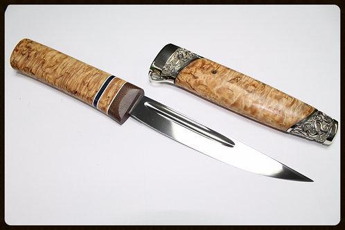 """Нож """"Якут средний""""c деревянными ножнами"""