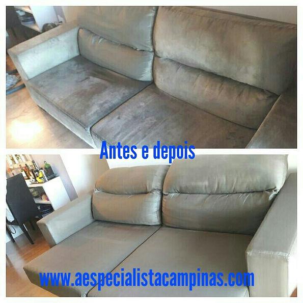 Higienização de sofás suede