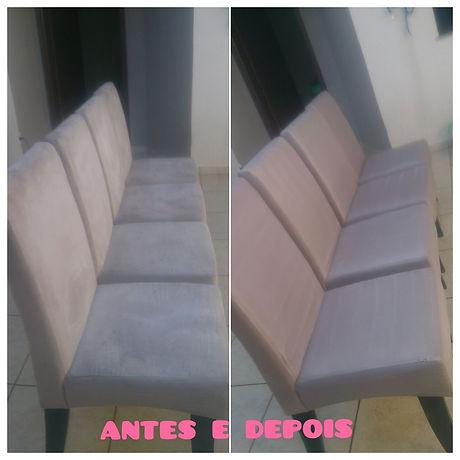 Limpeza de cadeiras almofadadas