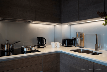 Serviced apartments in London with well equipped kitchens