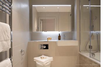 London City Serviced Apartments Spacious Bathroom