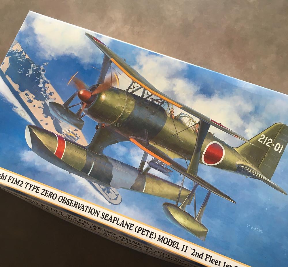 image of scale model kit box Hasegawa F1M2