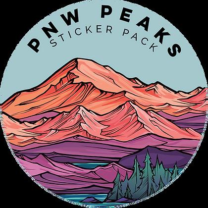 PNW PEAKS STICKER PACK