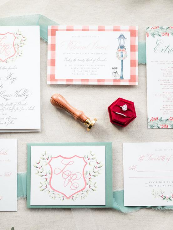 Christmas Wedding Invites