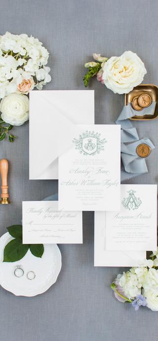 Classic Blue and Grey Wedding Invitation Flatlay Suite 1.jpg