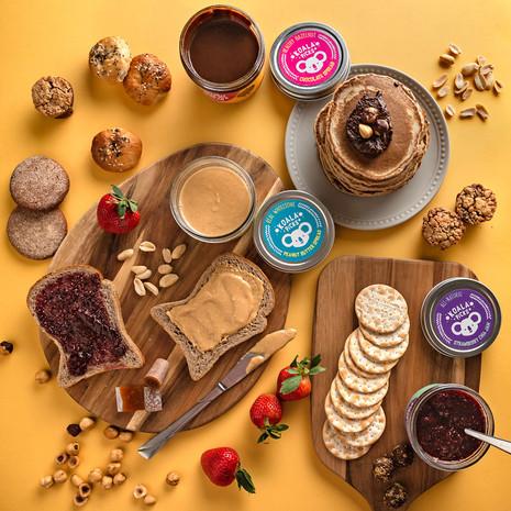 Healthy assortment of snacks