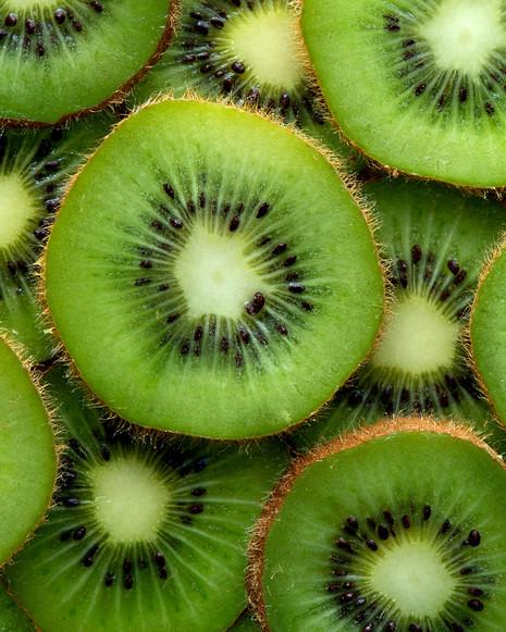 Macro shot of Kiwi fruit