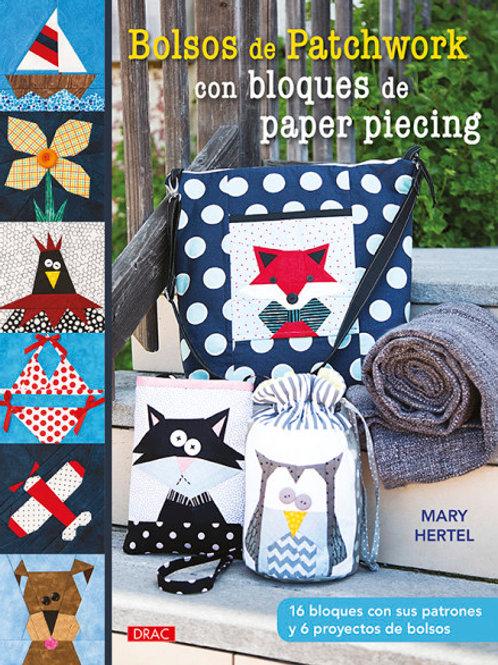 Libro bolsos de patchwork con bloques de paper piecing