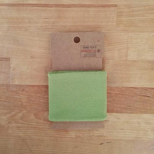 Puño / Cintura Liso. Verde Pistacho