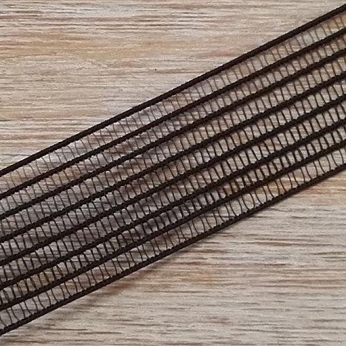 Goma para fruncir 25mm POR METRO DOS COLORES