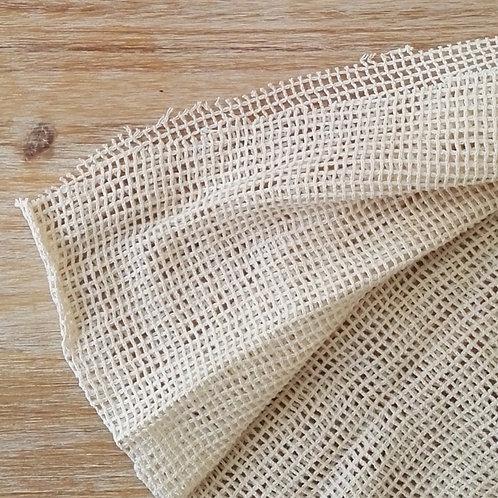 Tela de malla 100% algodón organico. Ancho 1.50 largo 50cm