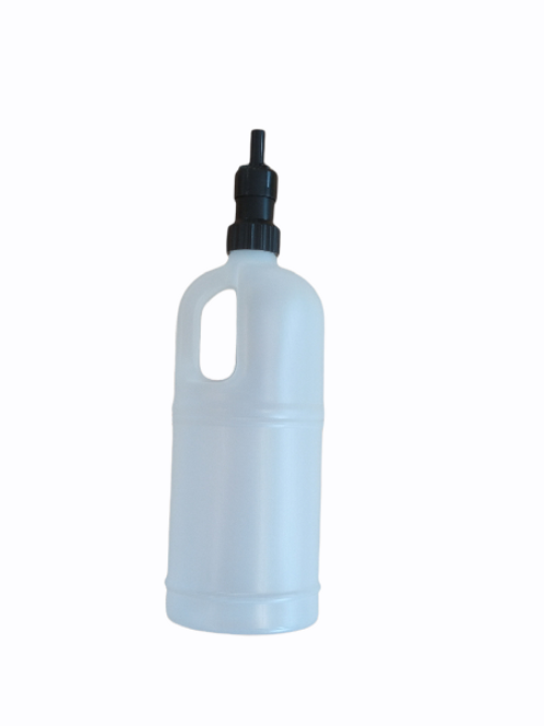 Botella con válvula antiderrame para rellenado de centros de plancha-1,8 litros