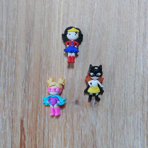 Botones superheroínas