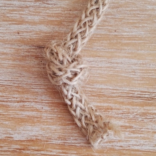 Cordón de yute natural trenzado 4 mm. Por metro