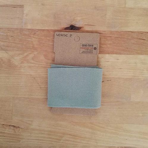 Puño / Cintura Liso. Verde Grisáceo