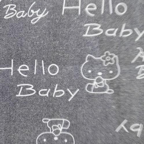 Tela algodón estampado Helly Baby ancho 145 50 cm