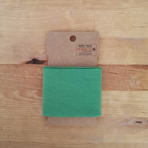 Puño / Cintura Liso. Verde Hierba