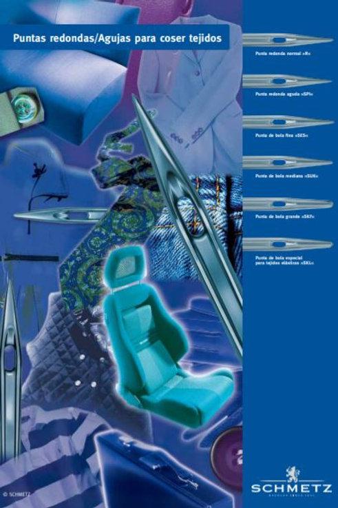 Catálogo PDF de puntas redondas para máquinas industriales