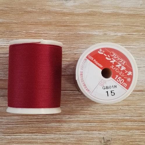 Hilo Fujix Jeans Stitch color 15 granate