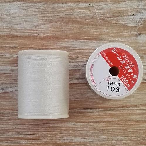 Hilo Fujix Jeans Stitich color 103 blanco roto crema