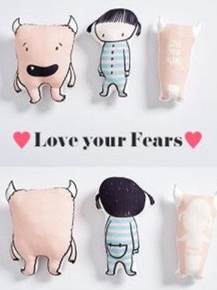 Tela panel de punto Love Your Fears