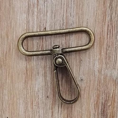 Mosquetón metálico oro viejo 50 mm