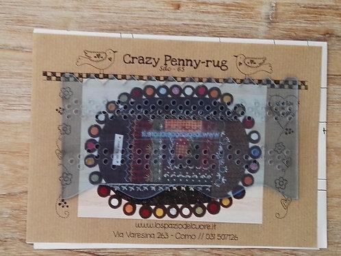 Plantilla de bordado Crazy Penny-rug