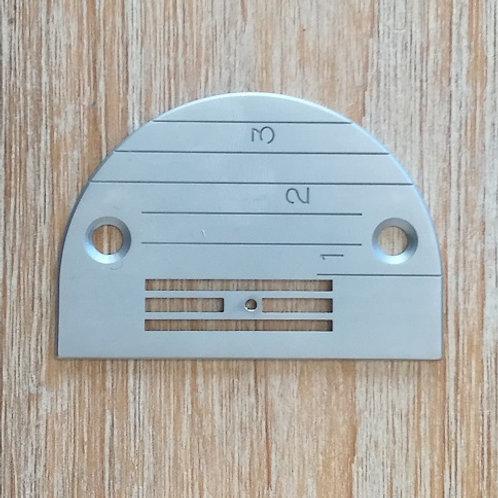 Placa aguja máquina plana JUKI tejidos medios finos