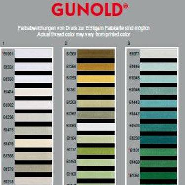 Carta de colores de hilo POLY 40 de Gunold