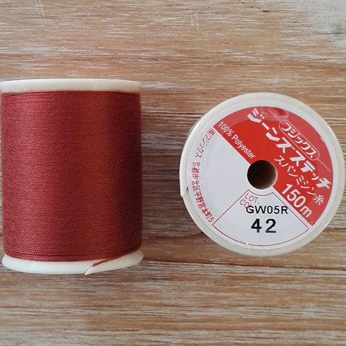 Hilo Fujix Jeans Stitch color 42 naranja oscuro