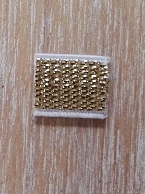 Goma metalizada 10 mm  50 cm