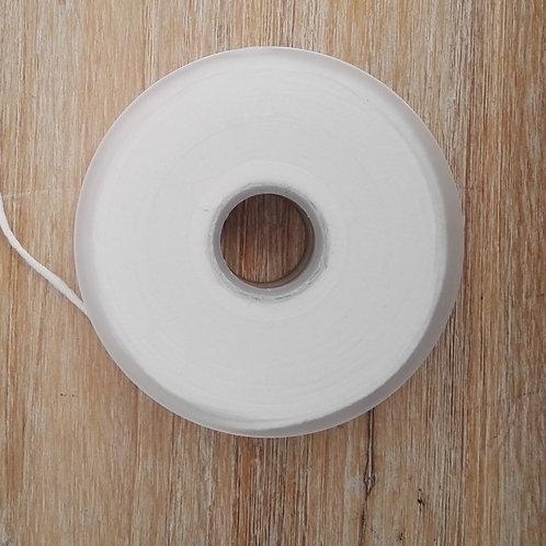 Goma redonda para mascarillas 100 metros blanca y negra