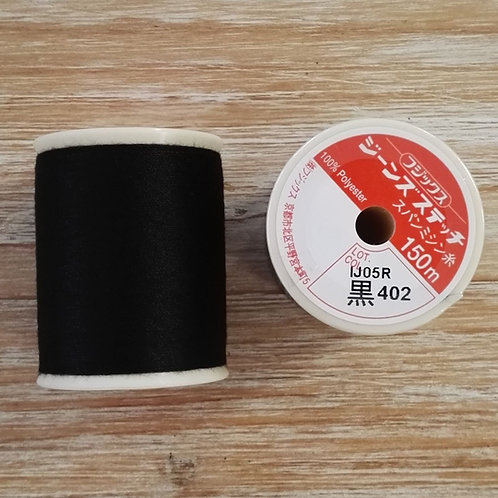 Hilo _Fujix Jeans Stitch color 402 negro
