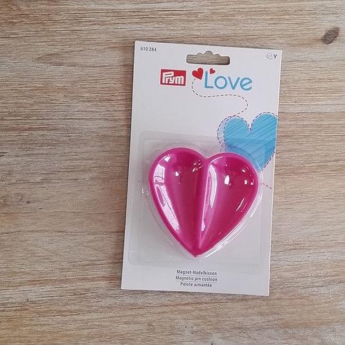 Alfiletero magnético Prym Love corazon fucsia