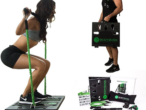 Factory Home Gym Workout BodyBoss 2.0 Resistance Bands Fitness Board Home Gym
