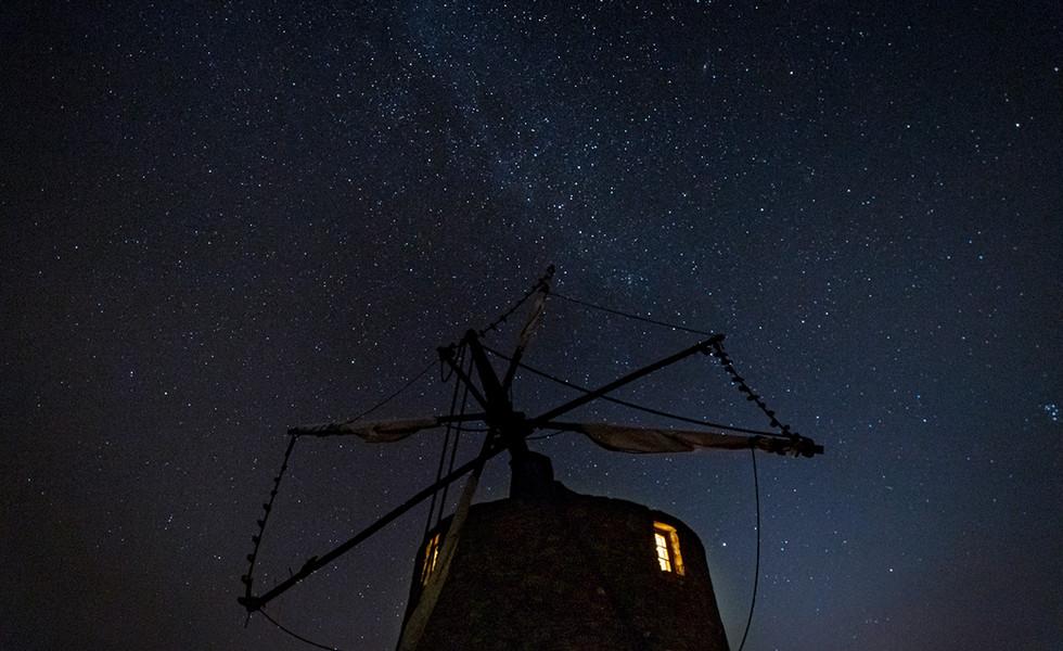 The night sky at Moinho da Fadagosa