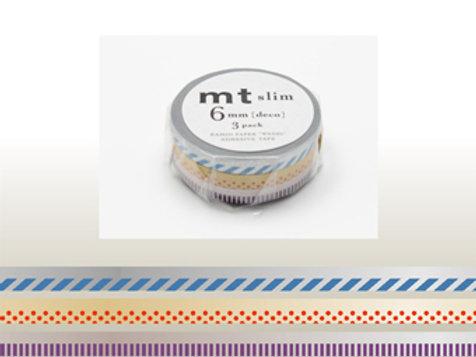 MT Slim Deco 6mm Masking Tape 3 Piece Set  C MTSLIM18
