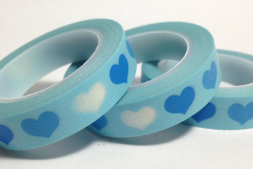 Thin Blue Hearts on Blue 10mm