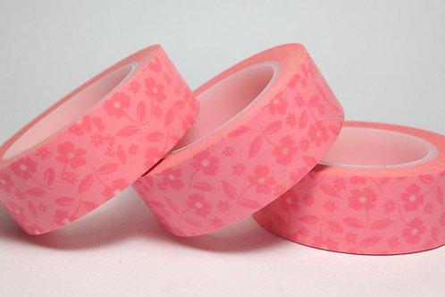 Pale Pink on Pink Floral 15mm