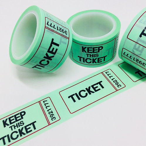 Wide Keep This Ticket Mint 24mm