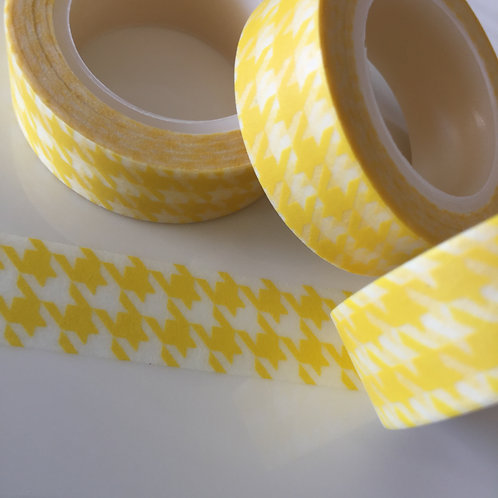 Yellow Houndstooth 15mm