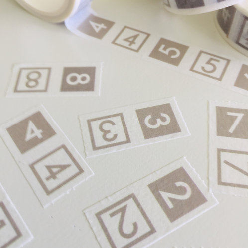 Perforated Numbers Washi Tape 15mm