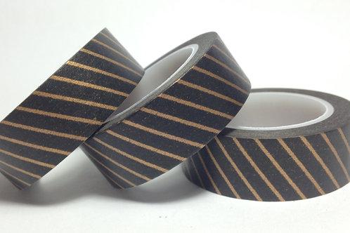 Bronze/Black Diagonal Stripe