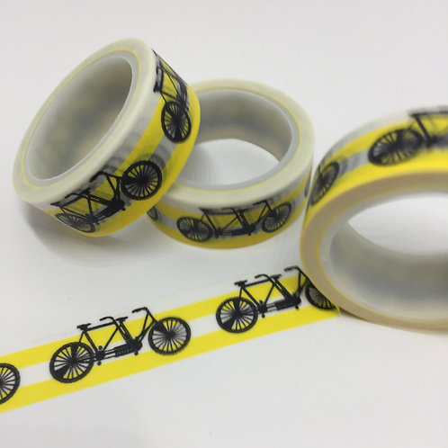Super Value Tandem Bike Yellow Stripe 15mm
