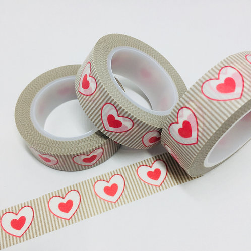 Hearts & Stripes 15mm