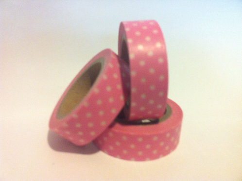 Polka Dots on Pink 15mm