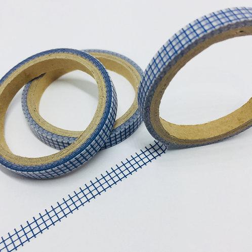 Thin Skinny Blue Grid 6mm